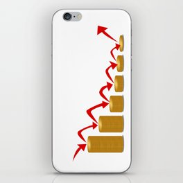 Falling Money Steps iPhone Skin