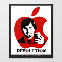Steve Jobs iTribute - All profit donated to CANCER RESEARCH uk. Canvas Print