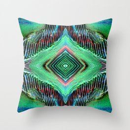 Texture's eye Throw Pillow