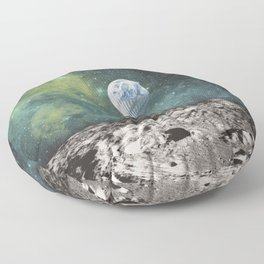 FLOATING THROUGH SPACE Floor Pillow