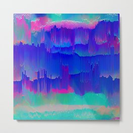 Bold Blue Turquoise and  pink abstract Metal Print