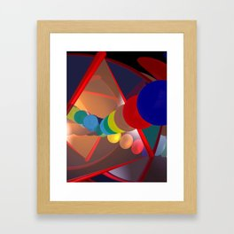in a mirror -1- Framed Art Print