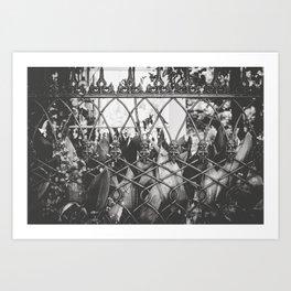 Skull Fence of New Orleans Art Print