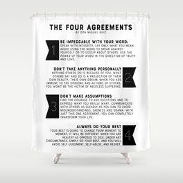 The Four Agreements by don Miguel Ruiz Shower Curtain