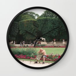 Guy in park Wall Clock