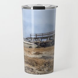 Fog on Good Harbor Beach Travel Mug