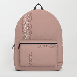Abstract baroque style texture. Backpack