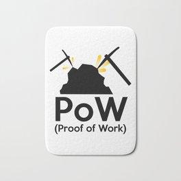 PoW - Proof of Work Bath Mat