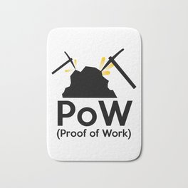PoW - Proof of Work Bath Mat