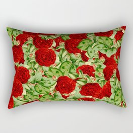 Painting the Roses Red Rectangular Pillow