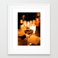 martini Framed Art Prints featuring Martini by Ann Yoo