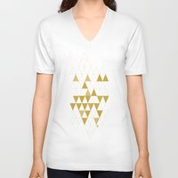 triangle V-neck T-shirts featuring My Favorite Shape by Krissy Diggs