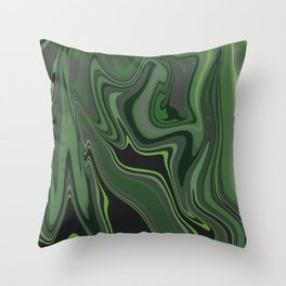Distorted stripes in colour 1 Throw Pillow