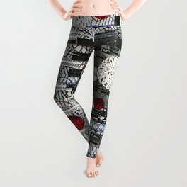 The Importance of Measuring Feet / The Needs of the Business (P/D3 Glitch Collage Studies) Leggings