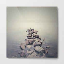 Minimalist misty landscape Metal Print