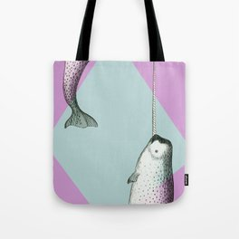 Narwhal Geometric Bright and Colorful Tote Bag