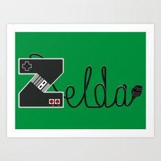 Z for zelda Art Print