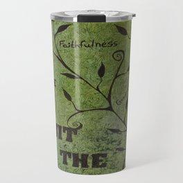 Faith Religious Art---Fruit of the Spirit---Bible Scripture Galations 5:22 by Saribelle rodriguez Travel Mug