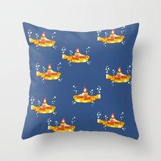 Fabric Yellow Submarine Throw Pillow