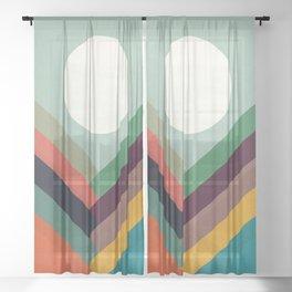 Rows of valleys Sheer Curtain