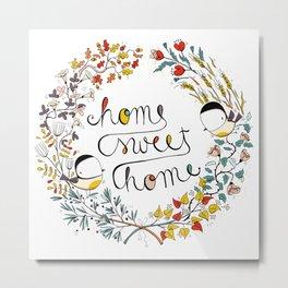 Home sweet home wreath Metal Print