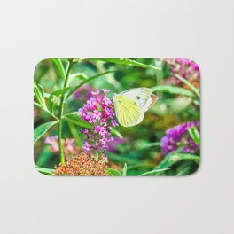 Cabbage White Butterfly Bath Mat