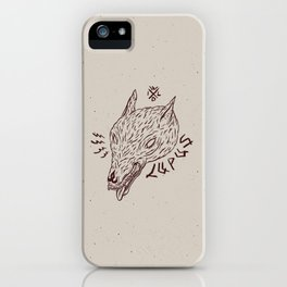 wildbeasts #3 - LUPUS iPhone Case