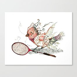 The Wild Badminton Birdie Canvas Print