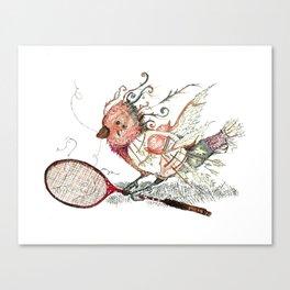 The Wild Badminton Birdie Canvas Print