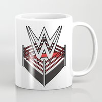 wwe Mugs featuring WWE Ring Logo by CmOrigins