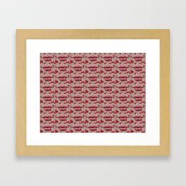 Valentine's Kisses Framed Art Print