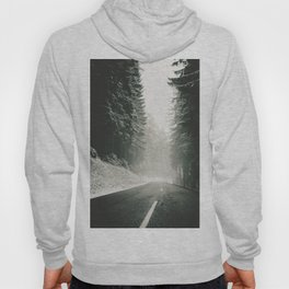 Forest Road In Winter Hoody