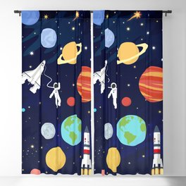 In space Blackout Curtain
