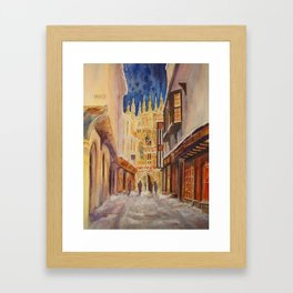 Winter evening in Canterbury Framed Art Print