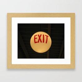 Exit (Helsinki 2009) Framed Art Print