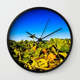 Tangled in the Pumpkin Patch Wall Clock