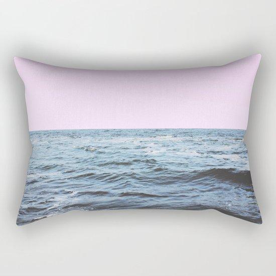Sea + Pink Rectangular Pillow