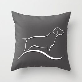 Pointer Dog Throw Pillow