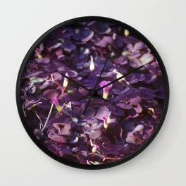 Pretty in Purple Flowers Wall Clock