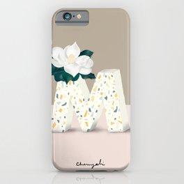 Vase M Magnolia iPhone Case