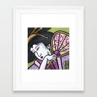 eric fan Framed Art Prints featuring Fan by Eric Carlstrom
