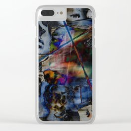 Many Faces in Time Clear iPhone Case