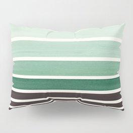 Deep Green Minimalist Watercolor Mid Century Staggered Stripes Rothko Color Block Geometric Art Pillow Sham