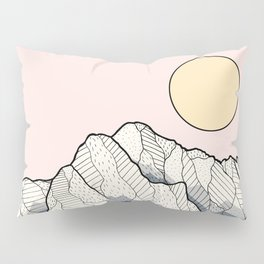 The sun and mountain Pillow Sham