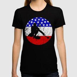 American Flag Curling T-shirt