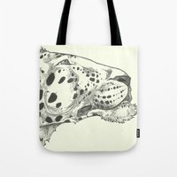 leopard Tote Bags featuring Leopard by Breakell