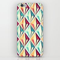diamonds iPhone & iPod Skins featuring Diamonds by VessDSign