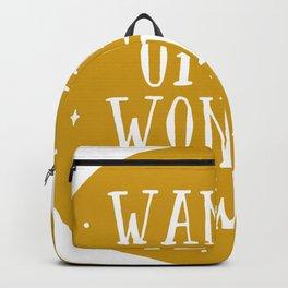 Wander Often Wonder Always Backpack