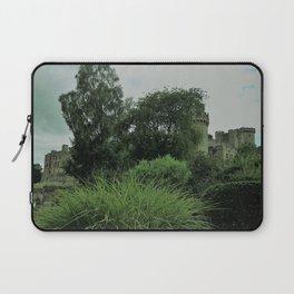 Warwick Castle Bathed in Green Light Laptop Sleeve