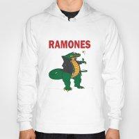 ramones Hoodies featuring Ramonasaurus  by Christopher Chouinard